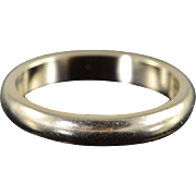 14K 3.3mm Plain Wedding Band Ring Size 8 White Gold