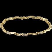 "10K 0.36 CTW Diamond Tennis Bracelet 7.25"" Yellow Gold"