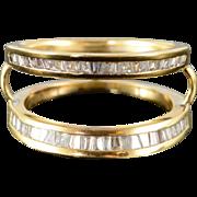 18K 1.00 CTW Diamond Engagement Ring Insert Wedding Band Ring Size 6.25 Yellow Gold