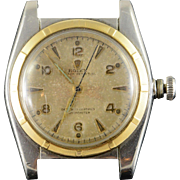 Stainless / 14K 1949 31mm Rolex Bubbleback Model 5011 Vintage Men's Watch Yellow Gold Model 5011, Serial 631398, Dated 1949, No box or papers, Oyster expansion bracelet