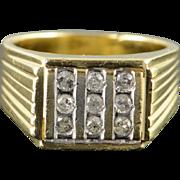 10K 0.30 CTW Diamond Bling Men's Ring Size 9.25 Yellow Gold