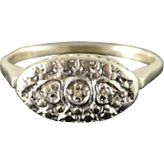 10K Vintage Genuine Diamond Wedding Band Ring Size 6.75 White Gold