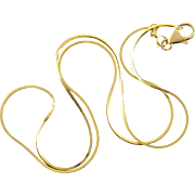 "14K Squared Snake Link Chain Necklace 20.4"" Yellow Gold"