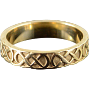 10K 4mm Celtic Criss Cross Wedding Band Ring Size 5.25 Yellow Gold