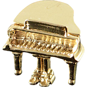 14K 3D Articulated Grand Piano Charm/Pendant Yellow Gold