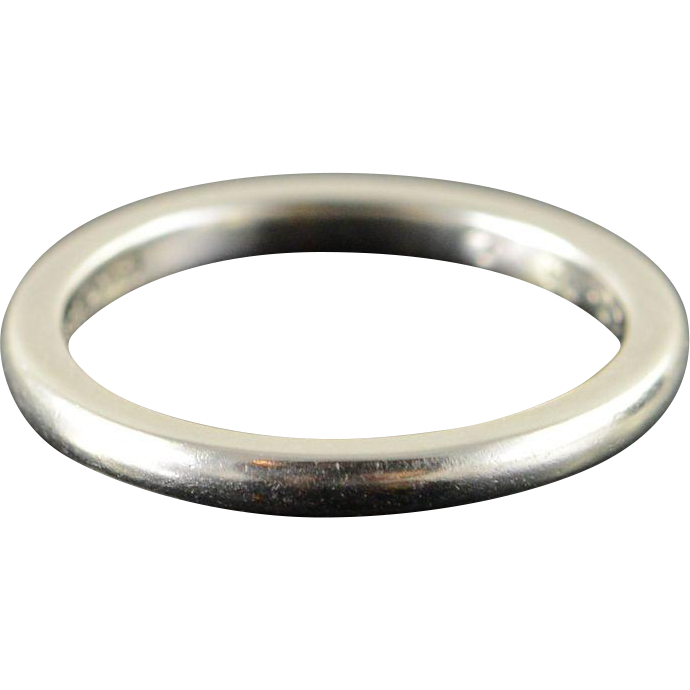 platinum 2mm plain co wedding band ring size 3 5