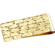 14K Nugget Snake Skin Money Clip  Yellow Gold