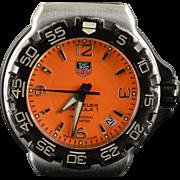 34mm Rare Orange TAG Heuer Formula 1 Quartz Professional 200m WAC1213 Men's Watch