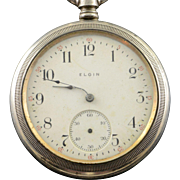 Elgin 1906 52mm Case 15 Jewel 16s Grade Grade 313 Pocket Watch