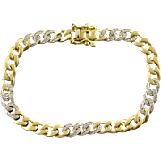 "18K 0.30 CTW Diamond Inset Two Tone Bracelet 6.5"" Yellow Gold"