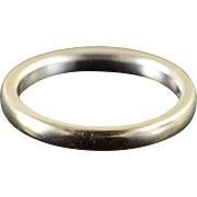 14K 2.5mm Plain Wedding Band Ring Size 5.75 White Gold