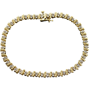 "10K 2.20 CTW Diamond Tennis Bracelet 7.25"" Yellow Gold"