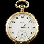 Elgin 1919 44mm Case 7 Jewels 12s Grade 303 Pocket Watch