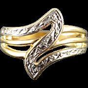 10K Zig Zag Free Form Ring Size 7 Yellow Gold