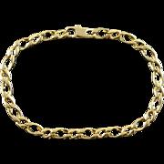 """14K Fancy Figaro Link Bracelet 8.25"""" Yellow Gold"""