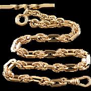 "Gold Filled Vintage Fancy Link Non Pareil Pocket Watch Fob Chain  12"""