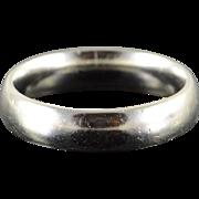 Platinum 4.9mm Plain Wedding Band Ring Size 8.75