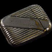 Silver Plate Art Deco Vesta Matchstick Case