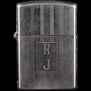 Sterling Silver Anson Simple Cigarette Lighter Case
