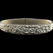 Sterling Silver Stieff Ornate Floral Motif Napkin Ring
