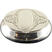 800 Silver FIM Ornate Engraveable Snuff/Pill/Trinket Box