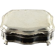 Sterling Silver Lovely Trinket/Snuff Box With Divider