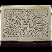 925 Sterling Silver Peruvian Trinket/Snuff/Pill Box