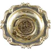 925 Sterling Silver 1915 Peru 1 Sol Coin Small Dish
