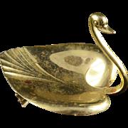 Sterling Silver Tiffany & Co. #23355 Swan Dish