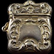 Sterling Silver Miniature Vesta Match Safe