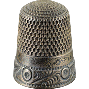 Sterling Silver Floral Motif Thimble