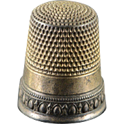 Sterling Silver Simon Brothers #9 Thimble