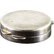 Sterling Silver Simple Pill/Snuff Box
