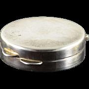 Sterling Silver Simple Pill/Snuff Box