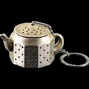 Sterling Silver Amcraft Kettle Tea Strainer