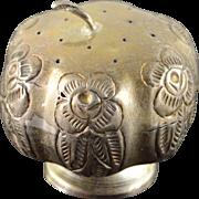 925 Sterling Silver Mexico Floral Motif Salt/Pepper Shaker