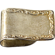Sterling Silver S. Kirk & Son #27 Floral Motif Money Clip