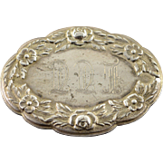 Sterling Silver S. Kirk & Son #14F Floral Motif Tag
