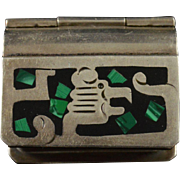 Sterling Silver Mexico Trinket/Pill/Snuff Box