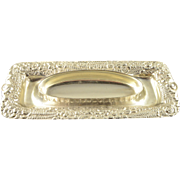 Sterling Silver Tiffany & Co. Ornate Floral Motif Vanity Tray #9138M2950    [QPQX]