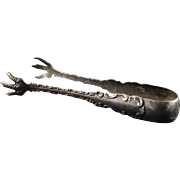 925Sterling Silver Ornate Whiting Tongs    [QPQX]