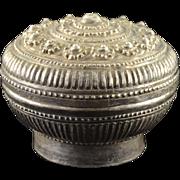Sterling Silver Ornate Floral Motif Serving Dish