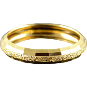 14K Hollow Textured Wedding Band Ring Size 8 Yellow Gold