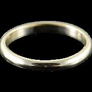 14K 2.4mm Classic Plain Wedding Band Ring Size 7 White Gold