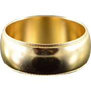 14K 8.3mm Plain Classic Wedding Band Unisex Ring Size 9.25 Yellow Gold