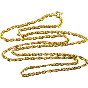 "10K Loose Link Chain Necklace 18"" Yellow Gold"