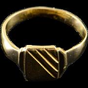 14K Engraveable Baby Kids Child's Birth Ring Yellow Gold  [QPQQ]