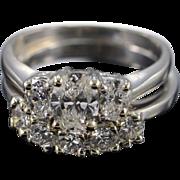 Platinum 1.13 Ct Oval I SI2 2.33 Ctw Diamond Engagement Wedding Set Ring Size 8.75