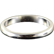 14K 2.6mm Plain Wedding Band Ring Size 5.75 White Gold