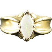 10K 0.50 CT Marquise Opal Ring Size 6.5 Yellow Gold